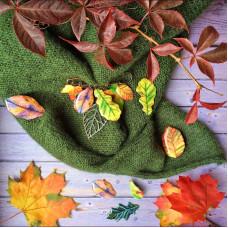 """Брошь-булавка """"Осенние листья"""""""
