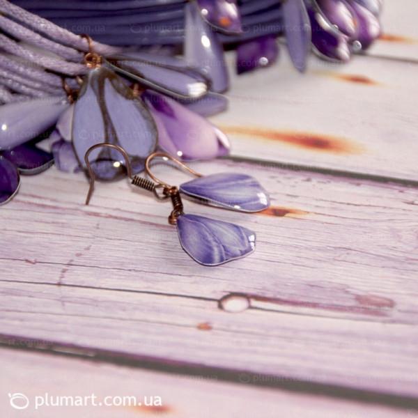 Мини-серьги Crocus purple